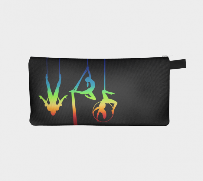 Flying Fox Aerial Ombre Pencil Case in Midnight Rainbow