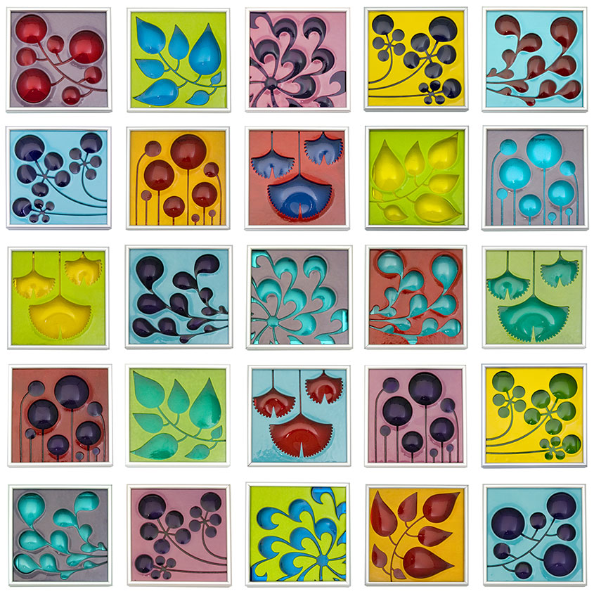 Michelle Prosek Kiln Blown Glass Tiles