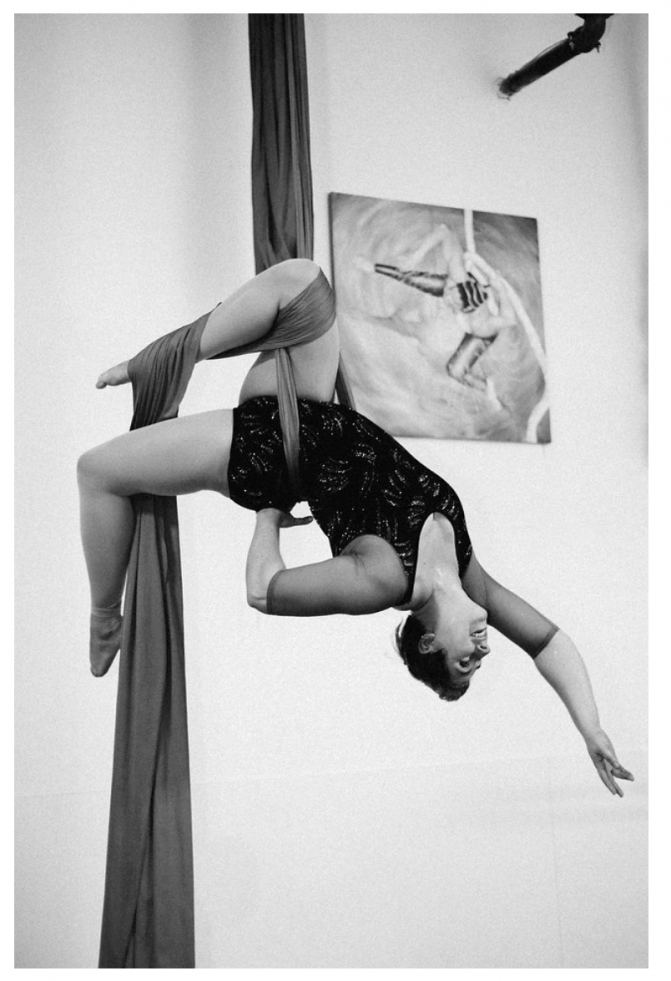 Michelle Prosek on aerial silks