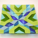 Quilted Glass Dish 12x12""