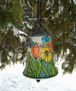 Hand-painted ceramic bell by Pavlo Pottery
