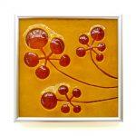 """Mustard Flower Tile 7x7"""""""