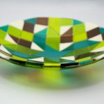 Quilted Glass Dish 8x8""