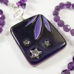 Purple Stars Dichroic Necklace