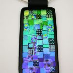 Blue Quilt Dichroic Necklace