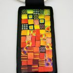 Sunset Quilt Dichroic Necklace