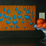Custom Backsplash - Raindrops
