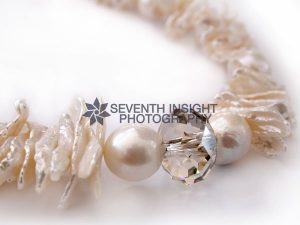 Pearl and crystal necklace by Stephanie King Jewellery