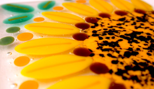 Sunflower Coaster Closeup