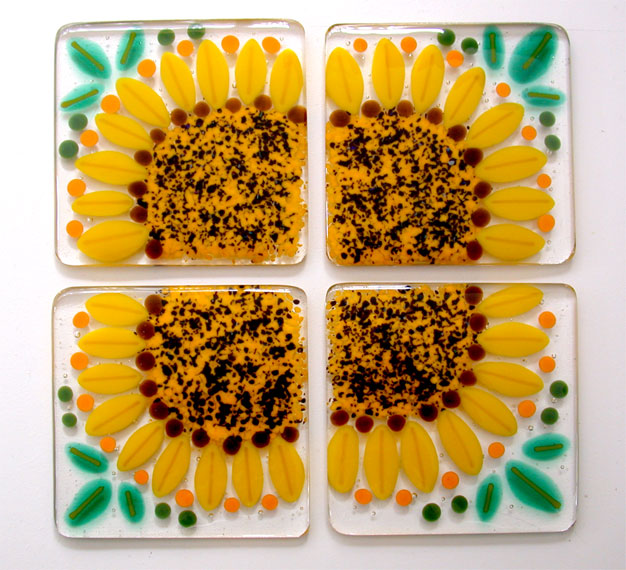 Custom Sunflower Coaster Set