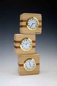 Small clock trio by Jason Freiburger Woodwork