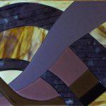 Custom Backsplash - Amethyst Ribbons