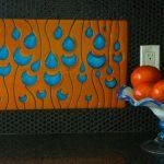 Custom Backsplash - Raindrops