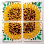 Custom Sunflower Coaster Set